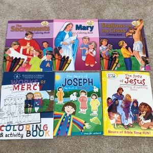 Other - Bundle of 6 Christian coloring/activity books